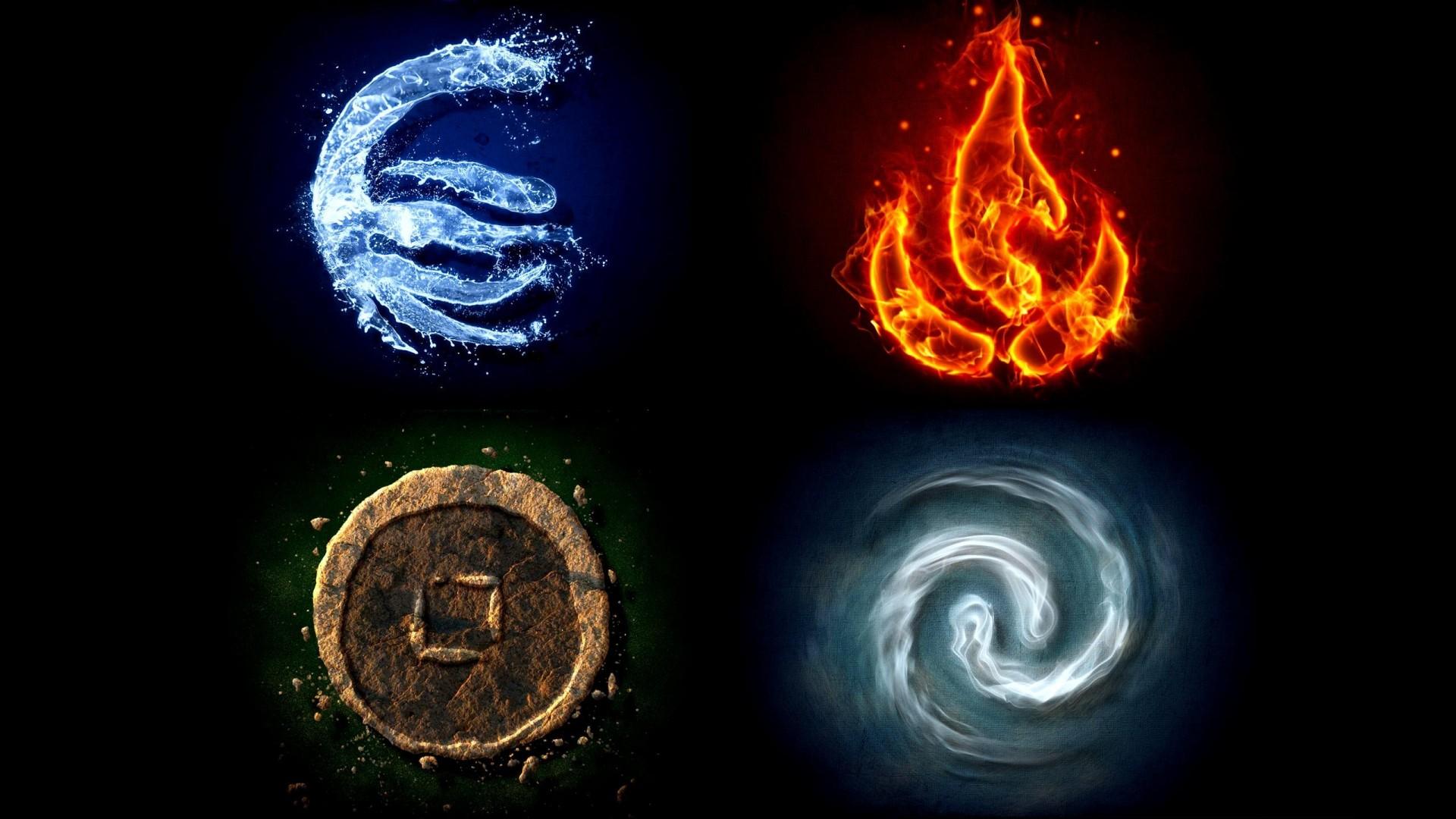 В её основу легла теория эмпедокла о четырех элементах (стихий): огне, земле, воде и воздухе.